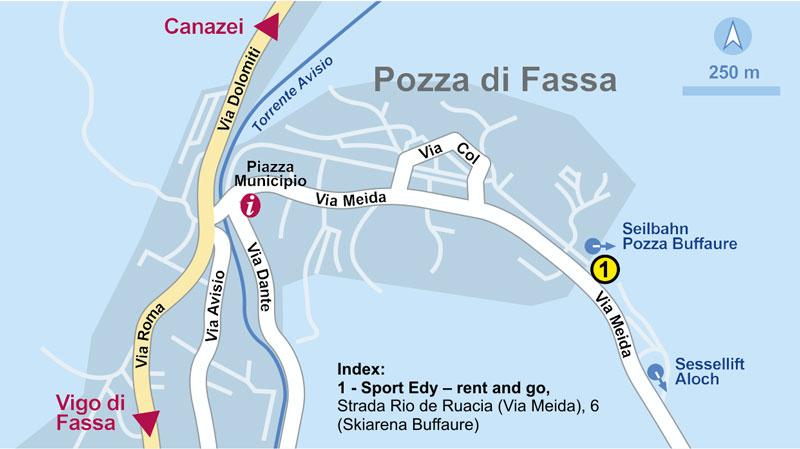 Ski and Snowboard rental in Pozza Di Fassa Rent and Go Sport Edy