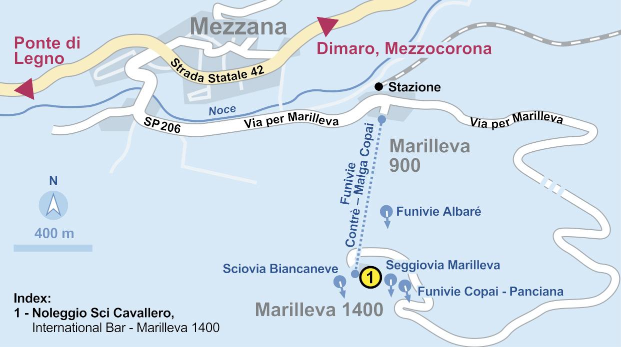 Cartina 1400.Ski Rental Marilleva 1400 Mezzana Noleggio Sci Cavallero Rent And Go